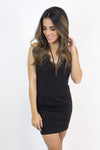 Lace Fitted Black Dress