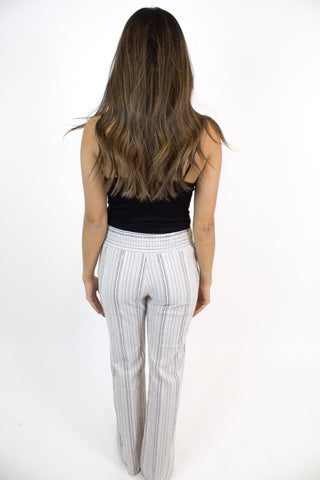 Ivory Blue Stripe Pants