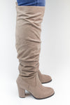 Taupe Tall Boots - Madden Girl - Luna Boutique