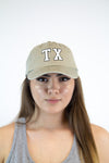 Texas Retro Hat - Beige - Luna Boutique