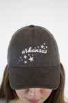 Arkansas Sparkle Hat - Grey