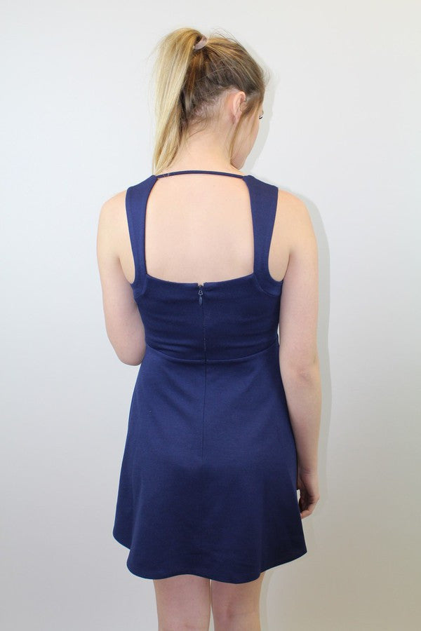 Navy Flare Dress - BCBGeneration