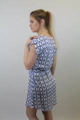 Multi Print Blue Dress