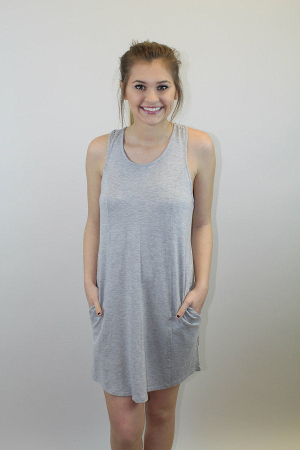 Heather Grey Racerback Dress