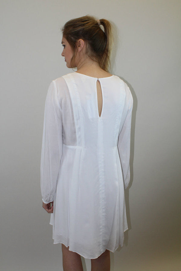 White Long Slv. Dress - BCBGeneration