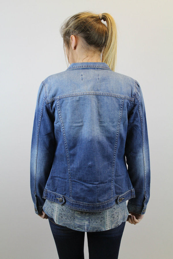Medium Wash Denim Jacket - BCBGeneration