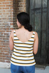 Mustard Striped Tank Top