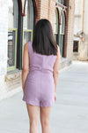 Mauve Scalloped Romper