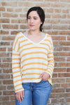 Yellow Stripe Knit Top