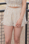 Yellow Stripe Shorts