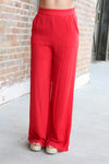 Red Woven Pants