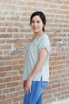Cuffed Sleeve Top - Olive