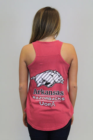 Crimson Razorback Tank Top