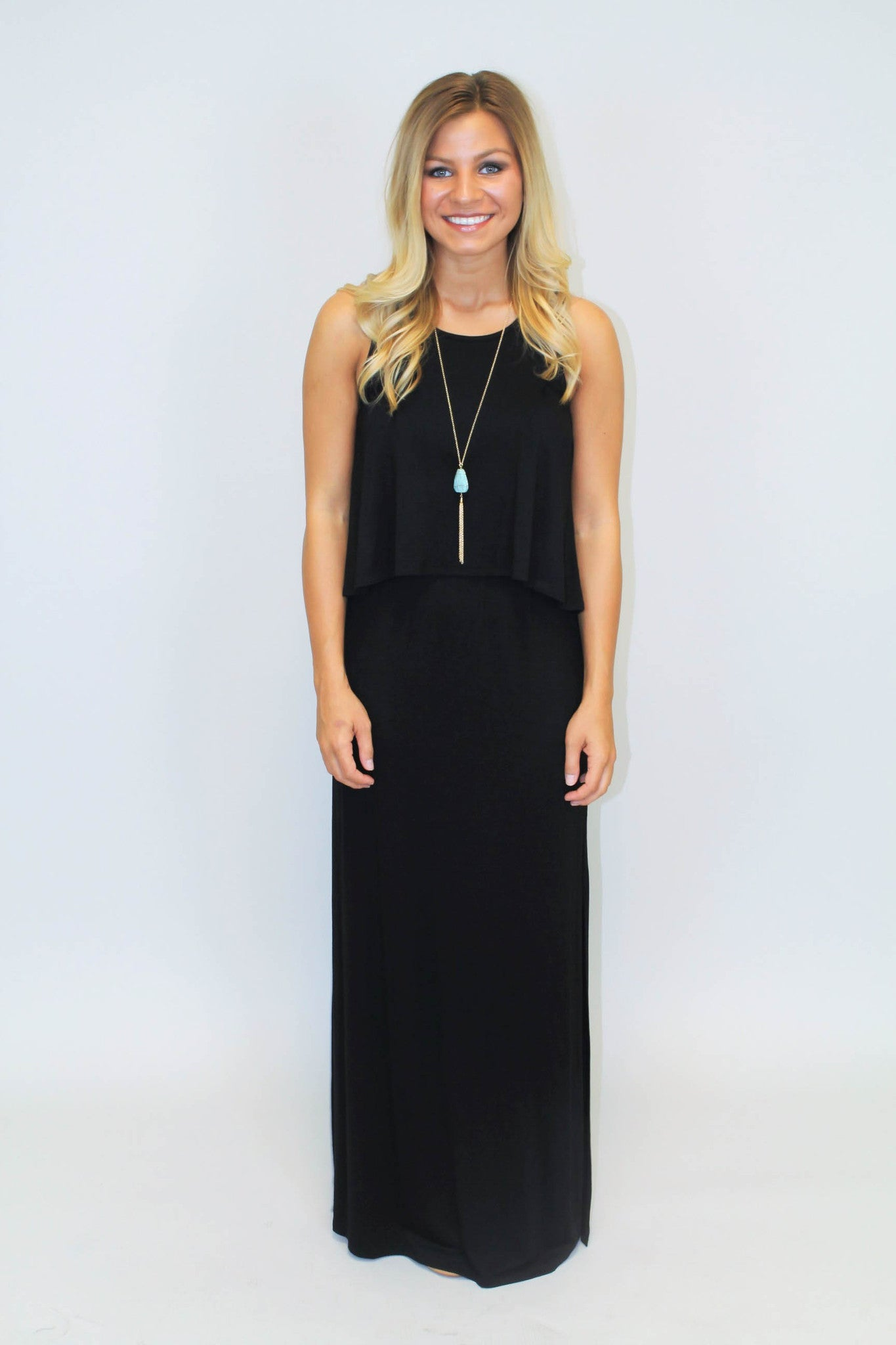 Black Knit Casual Maxi Dress - BCBGeneration