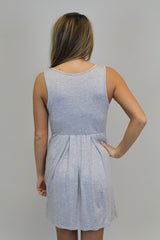 Grey Cross Over Dress