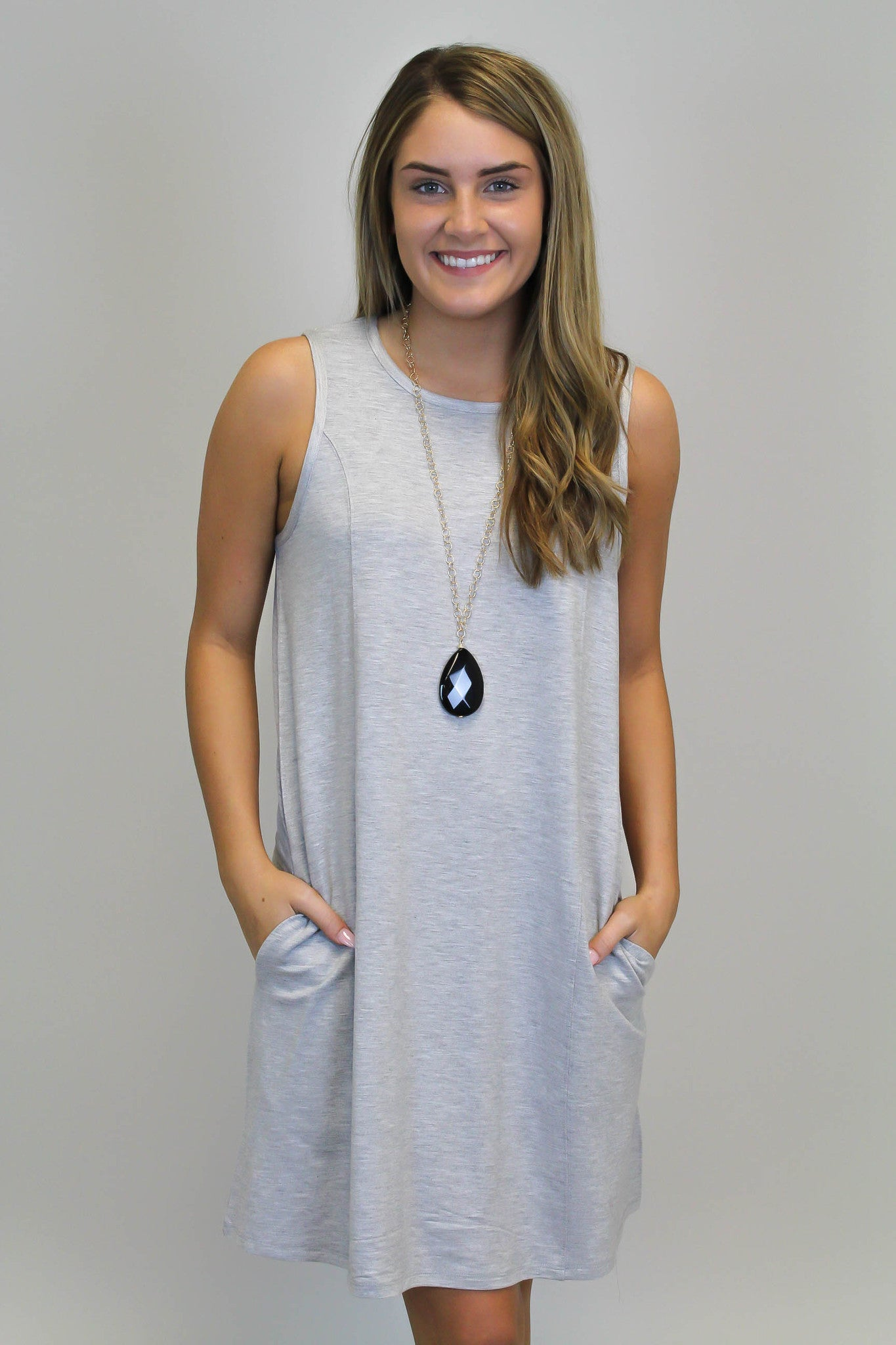 Heather Grey Knit Dress