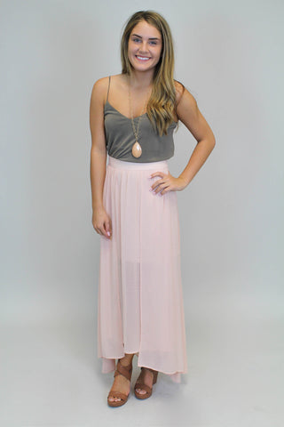 Light Pink Maxi Skirt