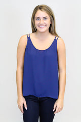 Navy Solid Tank Top
