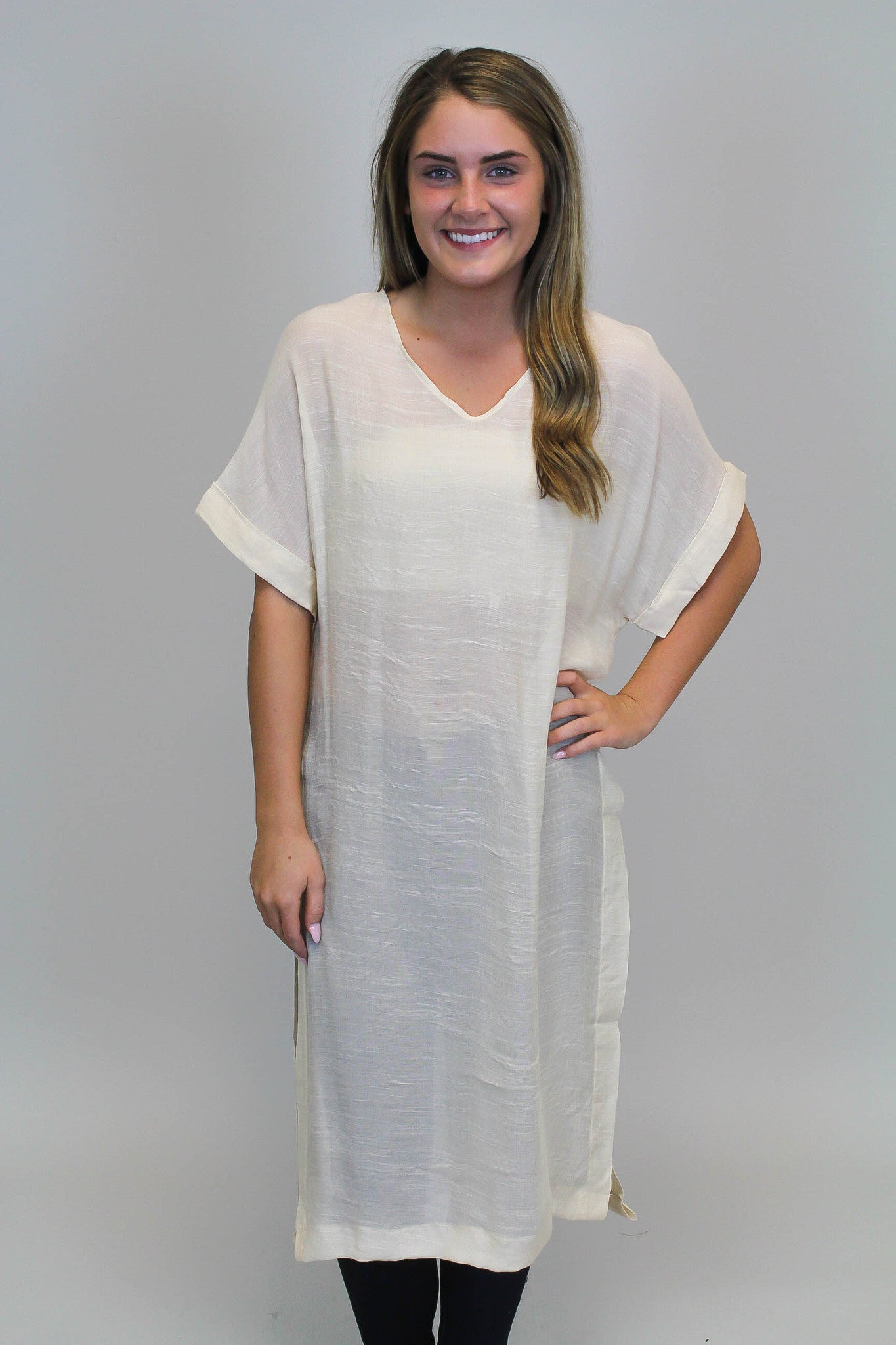 Cream Tunic Cover Up