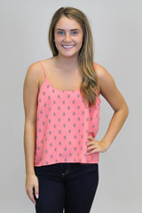 Coral Triangle Print Top