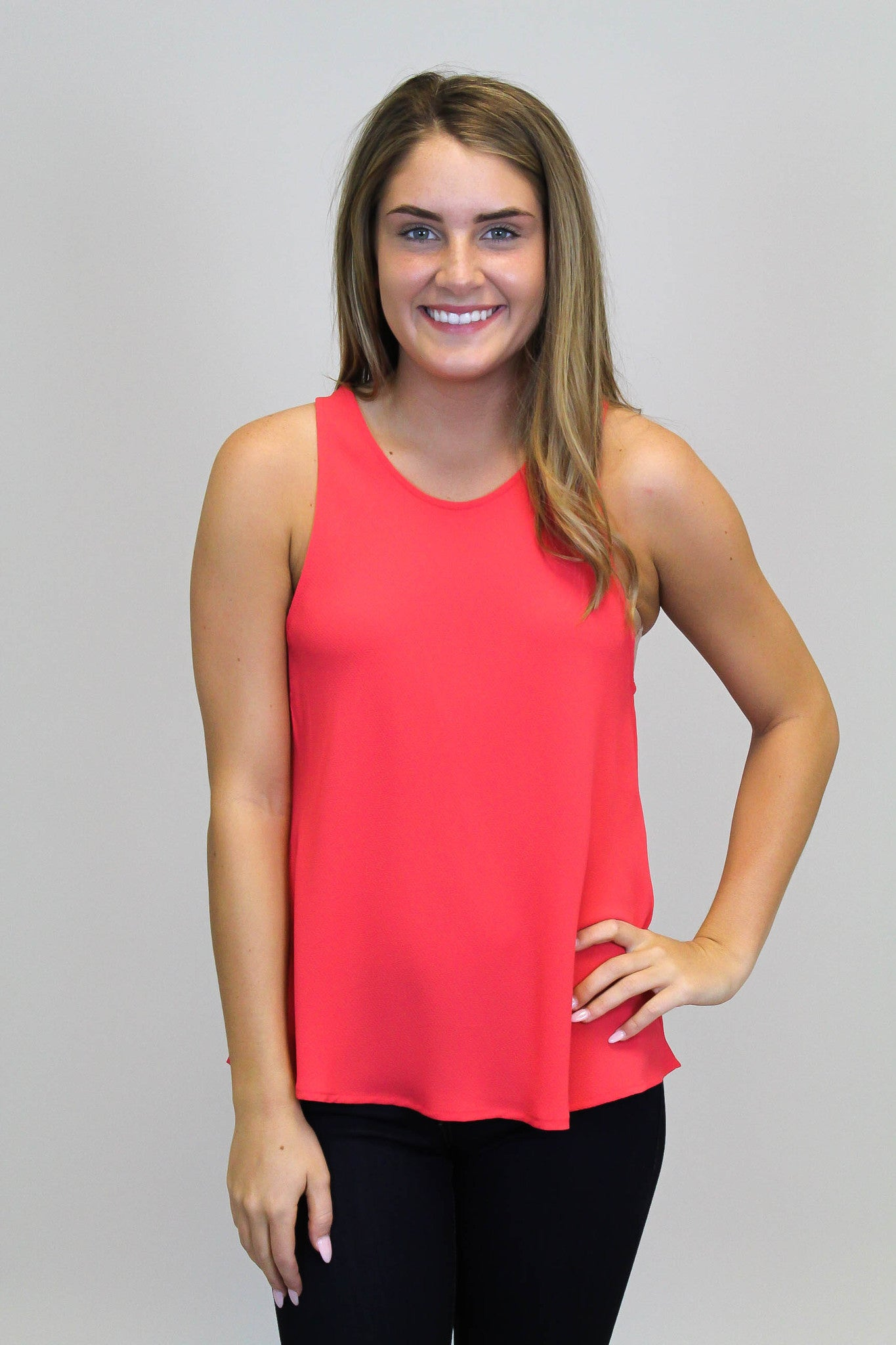 Coral Red Racerback Top