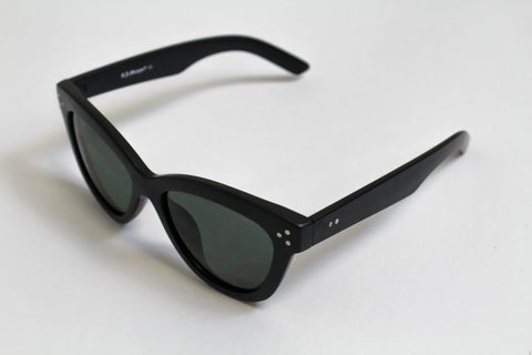 Corner G. Matte Black Sunglasses