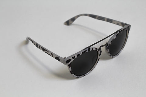 Grey Leopard Sunglasses