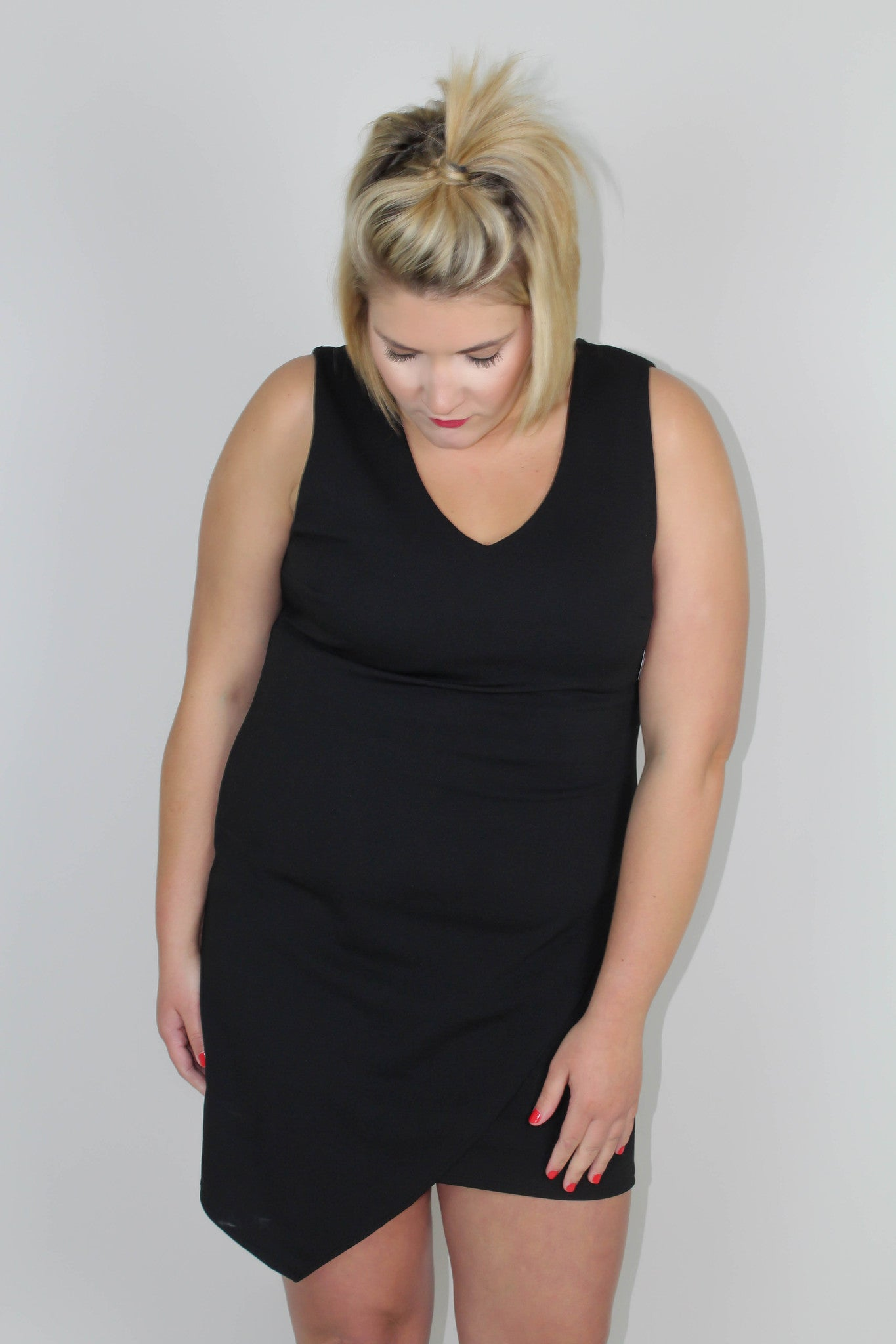 Black Fit Dress - Plus Size