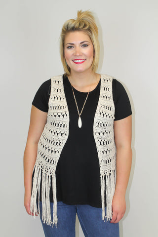 Black Tunic Top - Plus Size