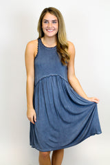 Blue Babydoll Dress