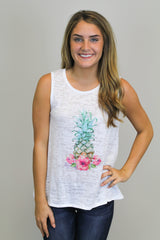 Pineapple Print Top