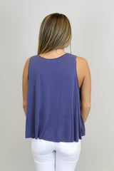 Blue Modal Crop Top