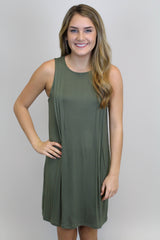 Olive Knit Casual Dress - BCBGeneration