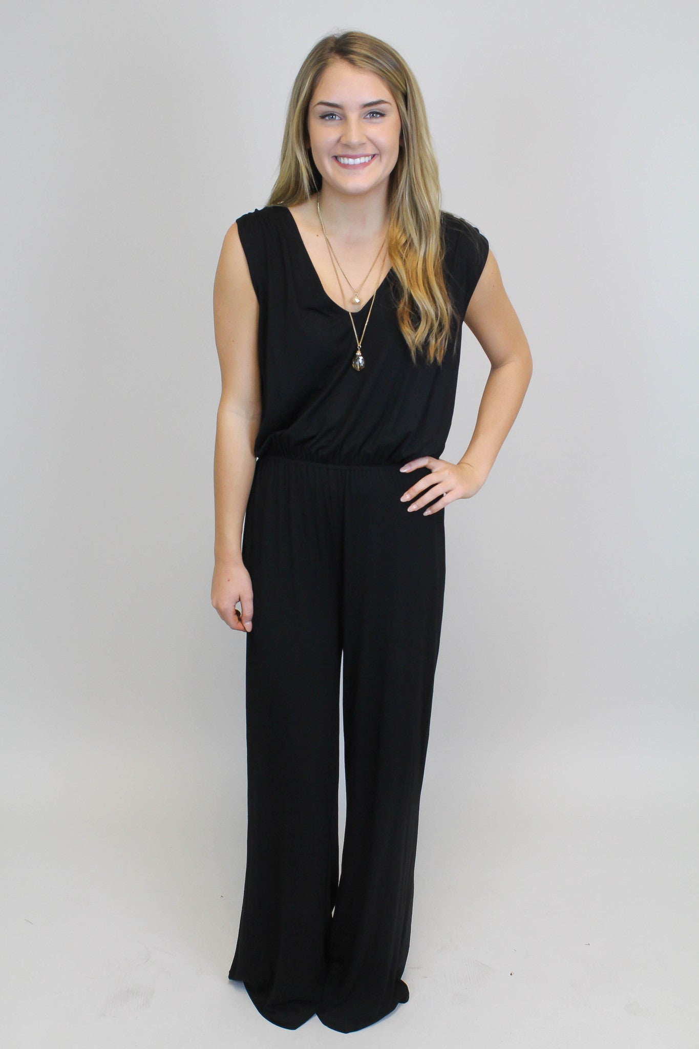 Crisscross Back Jumpsuit - BB Dakota
