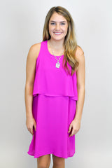 Magenta Layered Dress