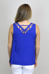 Cobalt Back Detail Top