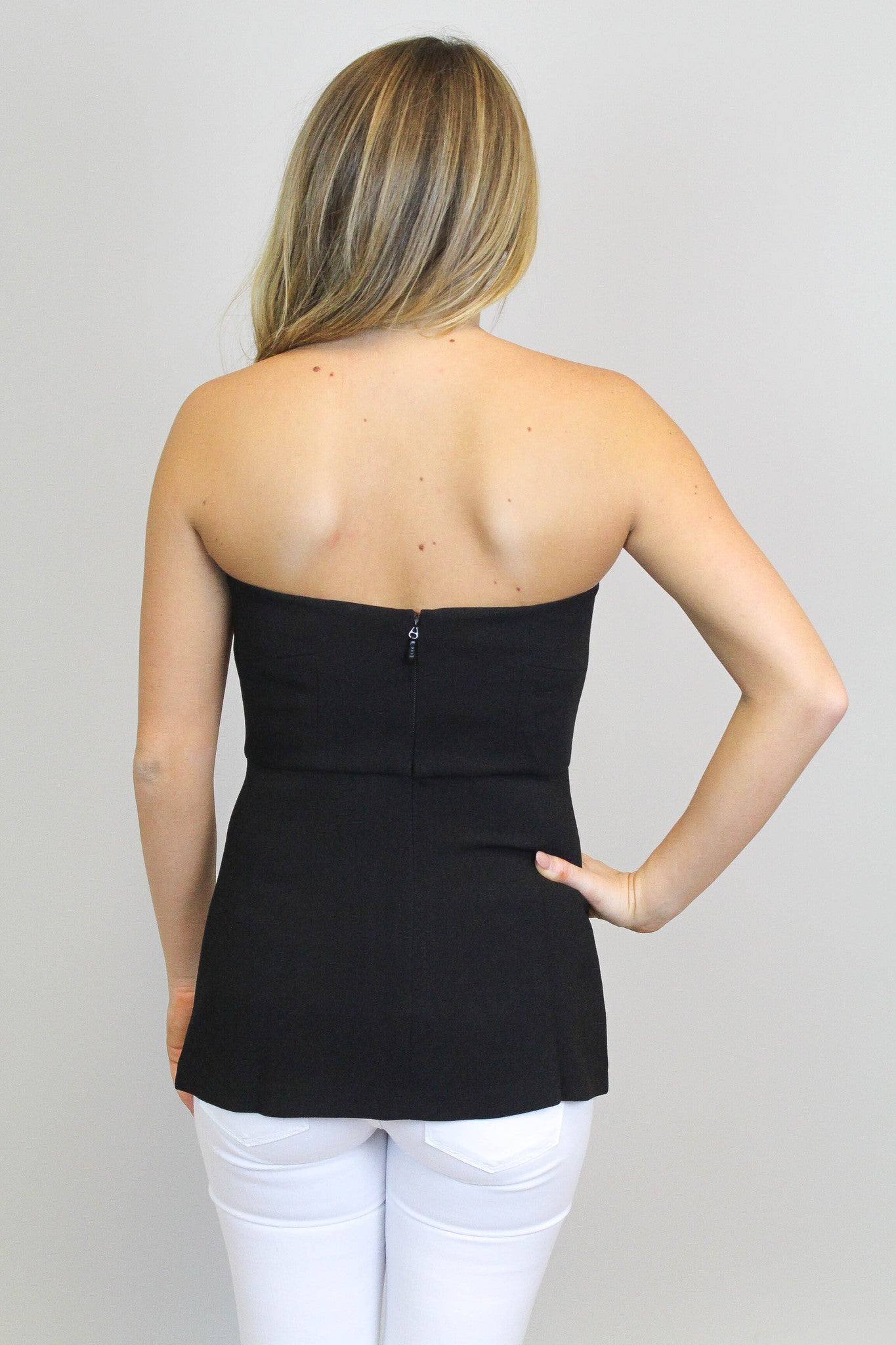 Black Strapless Top - BCBGeneration