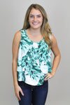 Tropical Flare Tank - Luna Boutique