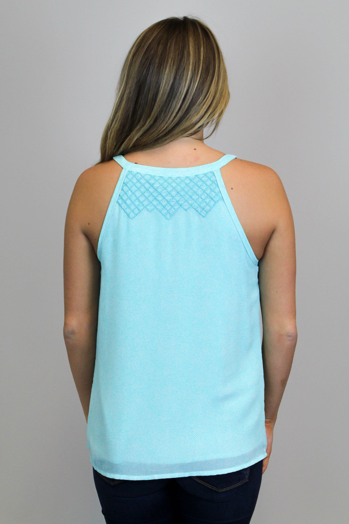 Mint Embroidery Tank
