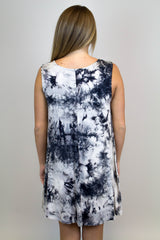 Black Tye Dye Knit Dress