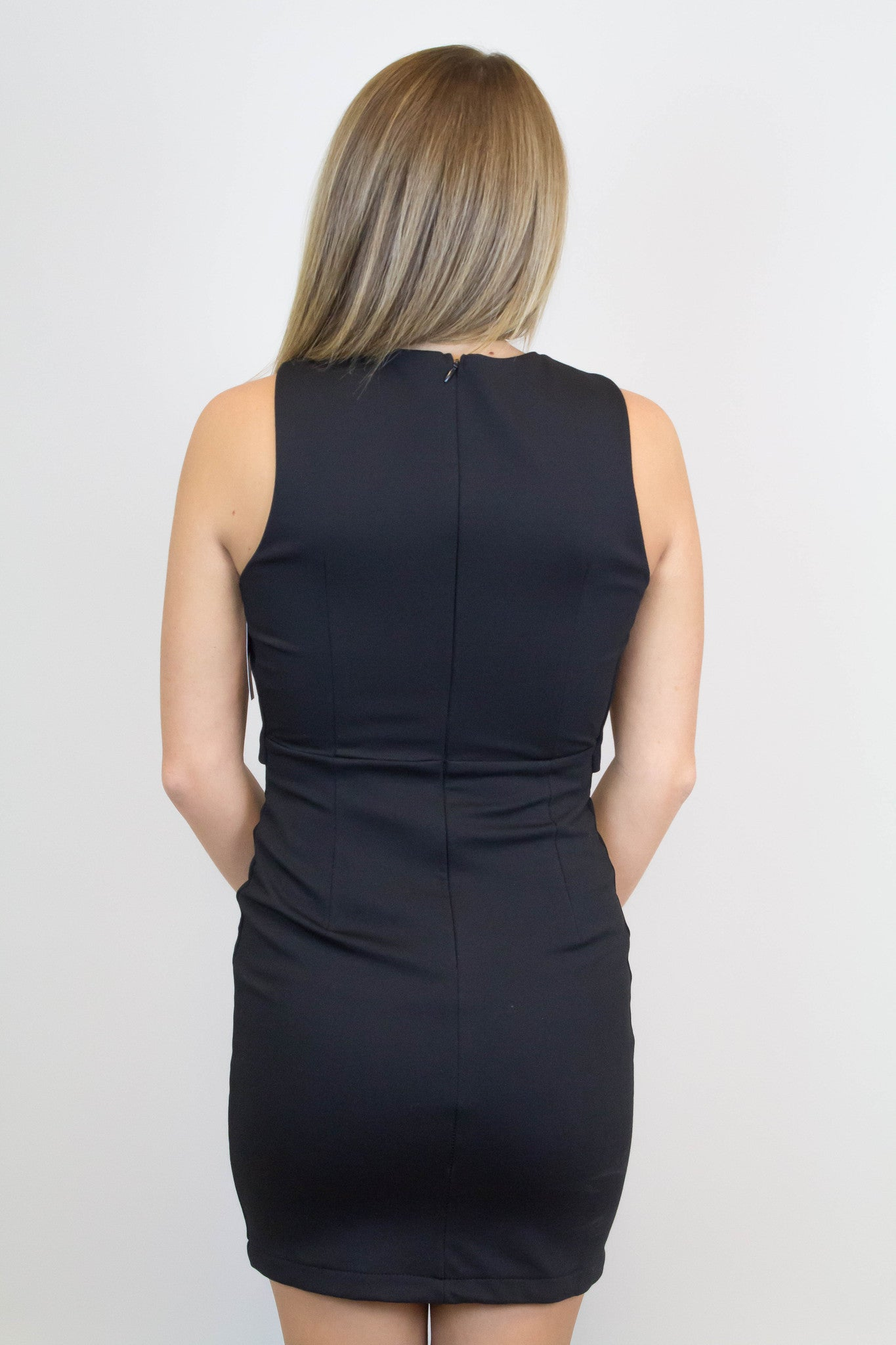 Black Criss Cross Bodycon Dress