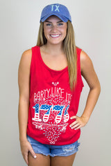 Party like it's 1776 Tank Top