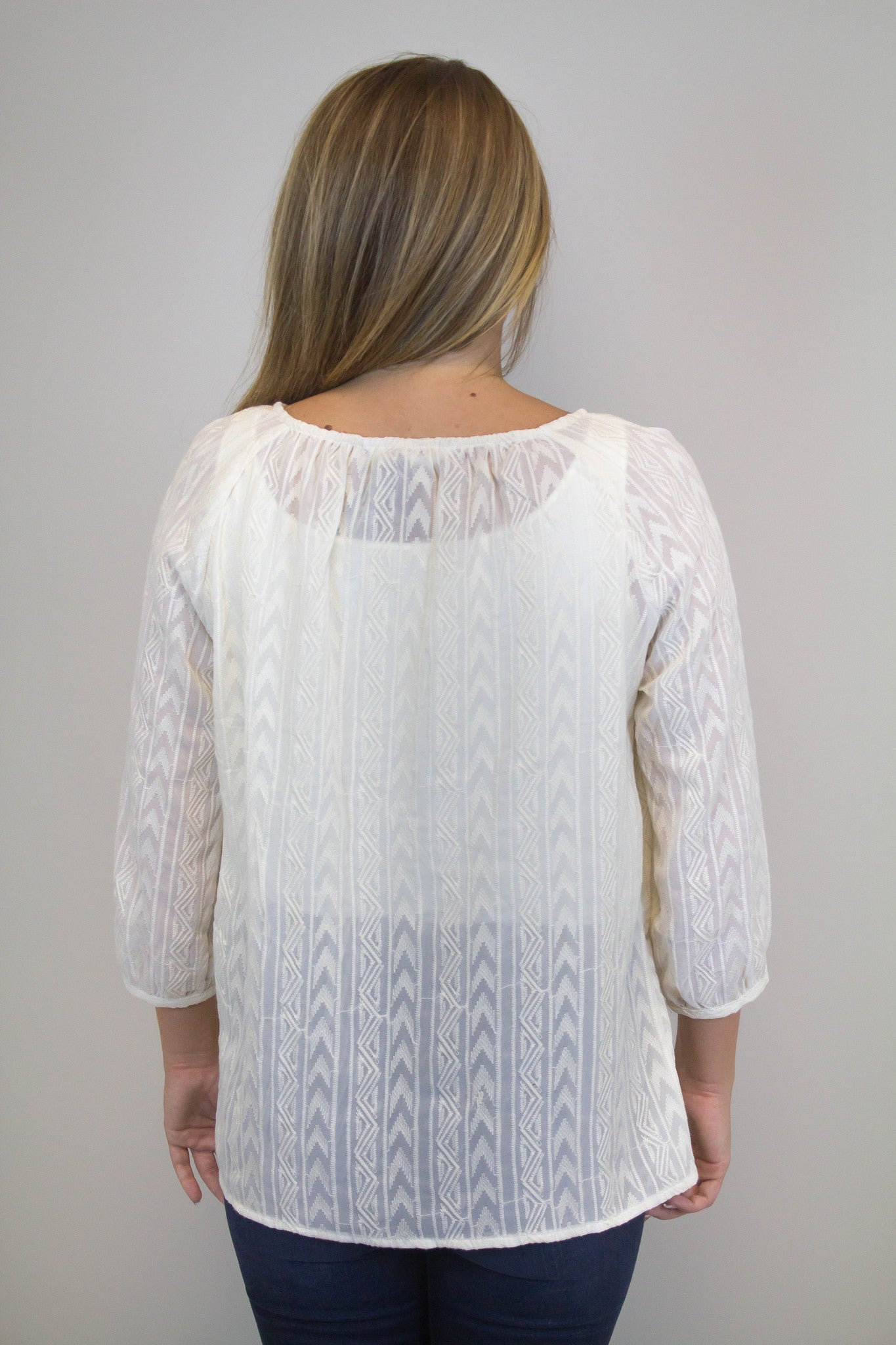 Ivory Embroidery Top - BB Dakota
