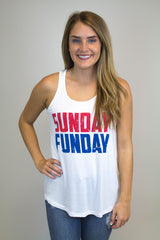 White Sunday Funday Tank