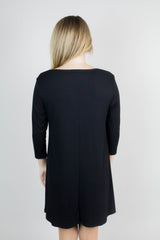 Black Keyhole Knit Dress