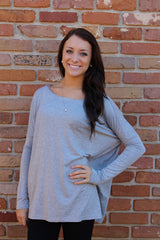 Light Gray Piko Top