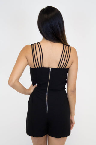 Melody Black Romper