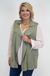 Olive Vest - Plus Size - Luna Boutique