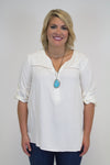 Ivory Detail Top - Plus Size