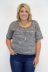 Black Blend Top - Plus Size